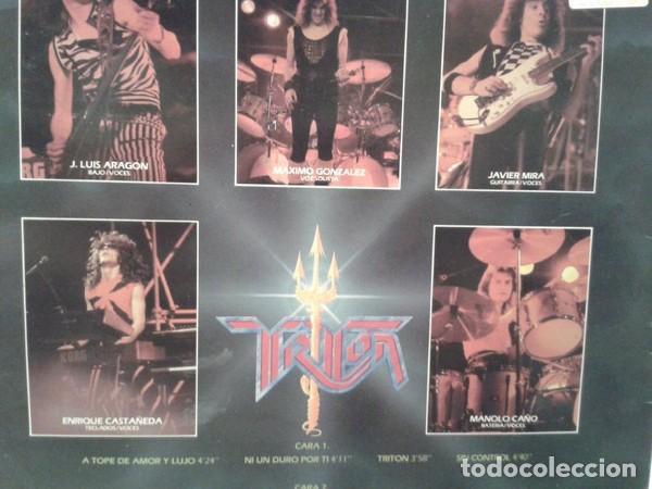 Discos de vinilo: Triton – Triton - LP VINYL 1985 SPAIN ( Sangre Azul, Jupiter, Crom, Muro, Leize, Thor) - Foto 2 - 145793006