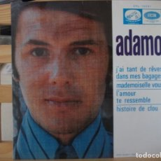 Discos de vinilo: EP DE ADAMO , J´AI TANT DES REVES DANS MES BAGAGES + 3 (1968), EXCEPCIONAL ESTADO. Lote 145795114