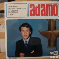 Discos de vinilo: EP DE ADAMO , TU NOMBRE (TON NOM) + 3 (1966), CANTA EN ESPAÑOL. Lote 145795590