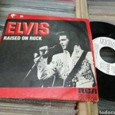 Discos de vinilo: ELVIS PRESLEY SINGLE PROMOCIONAL RAISED ON ROCK 1973 ESPAÑA. Lote 145798676
