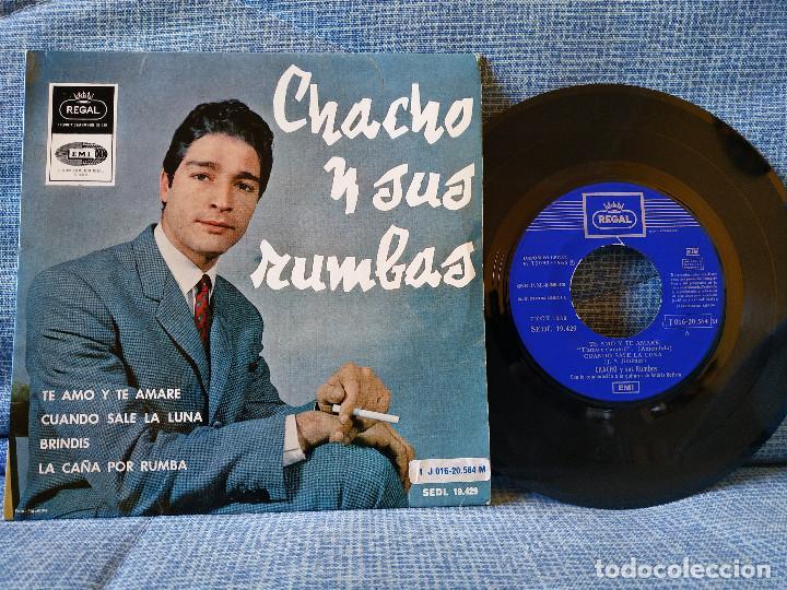 CHACHO Y SUS RUMBAS - TE AMO Y TE AMARÉ + 3 EP ESPAÑOL DEL SELLO REGAL AÑO 1965 DOBLE REFERENCIA (Música - Discos de Vinilo - EPs - Flamenco, Canción española y Cuplé)