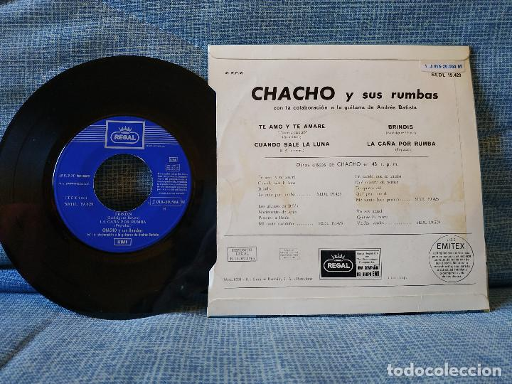 Discos de vinilo: CHACHO Y SUS RUMBAS - TE AMO Y TE AMARÉ + 3 EP ESPAÑOL DEL SELLO REGAL AÑO 1965 DOBLE REFERENCIA - Foto 2 - 145803770