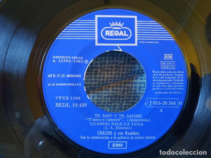Discos de vinilo: CHACHO Y SUS RUMBAS - TE AMO Y TE AMARÉ + 3 EP ESPAÑOL DEL SELLO REGAL AÑO 1965 DOBLE REFERENCIA - Foto 3 - 145803770