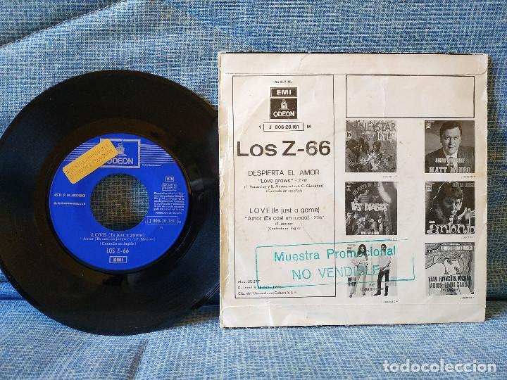 Discos de vinilo: LOS Z 66 - DESPIERTA EL AMOR / LOVE (IT'S JUST A GAME) - RARO SINGLE PROMOCIONAL - BUEN ESTADO - Foto 2 - 145811970