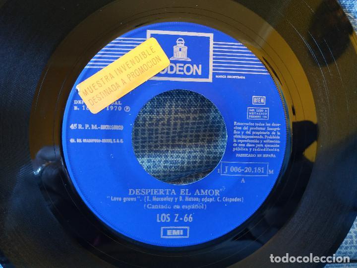 Discos de vinilo: LOS Z 66 - DESPIERTA EL AMOR / LOVE (IT'S JUST A GAME) - RARO SINGLE PROMOCIONAL - BUEN ESTADO - Foto 3 - 145811970