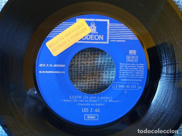 Discos de vinilo: LOS Z 66 - DESPIERTA EL AMOR / LOVE (IT'S JUST A GAME) - RARO SINGLE PROMOCIONAL - BUEN ESTADO - Foto 4 - 145811970