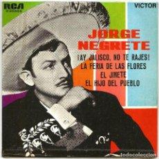 Discos de vinilo: JORGE NEGRETE, SU MARIACHI, EL TRIO CALAVERAS Y EL TRIO TAMAULIPECO (EP) 1963. Lote 145820702