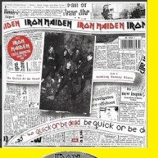 Discos de vinil: IRON MAIDEN - BE QUICK OR BE DEAD / NODDING DONKEY BLUES, 1992 RARO, EDIT ORG UK, !! EXC. Lote 145835942