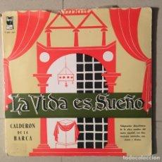 Discos de vinilo: LA VIDA ES SUEÑO - CALDERÓN DE LA BARCA - 1960 - DOBLE. LP . Lote 145844194