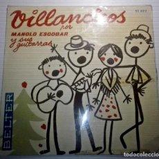 Discos de vinilo: MANOLO ESCOBAR - VILLANCICOS -. Lote 145847930
