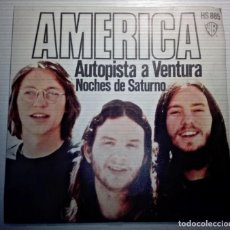 Discos de vinilo: AMERICA - AUTOPISTA VENTURA -. Lote 145852554