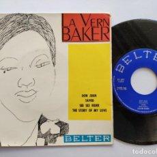 Discos de vinilo: LAVERN BAKER - EP SPAIN PS - DON JUAN / SAVED / STORY OF MY LOVE / SEE SEE RYDER - BELTER 1964. Lote 145854950