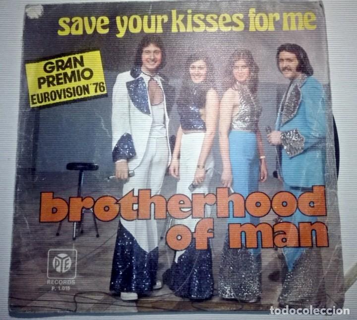 BROTHERHOOD MAN - SAVE YOUR KISSES FOR ME - (Música - Discos de Vinilo - Maxi Singles - Festival de Eurovisión)