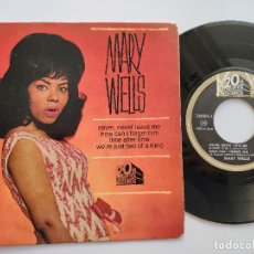 Discos de vinilo: MARY WELLS - EP FRANCE PS - NEVER, NEVER LEAVE ME - 20 CENTURY-FOX 730 006 M. Lote 145856782