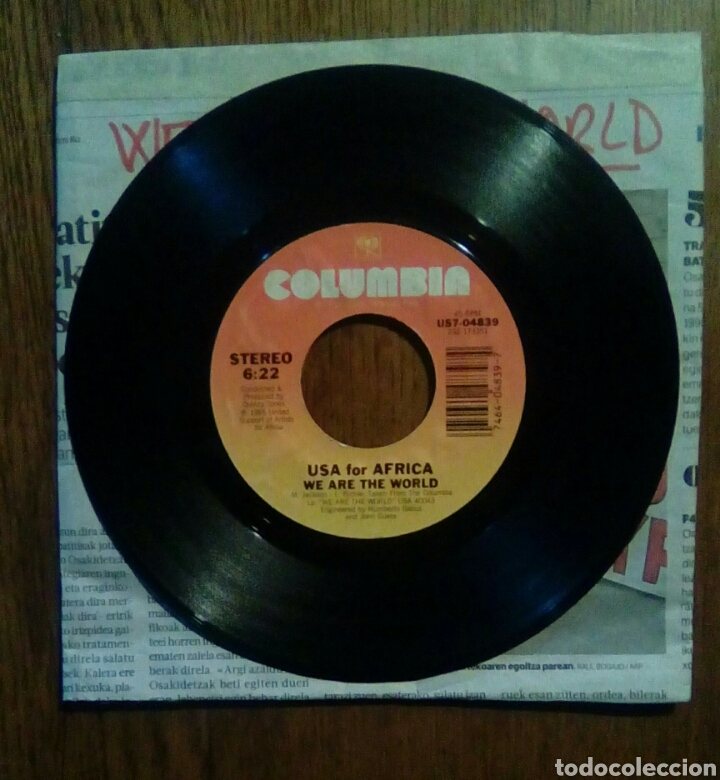 Discos de vinilo: Usa for Africa, we are the world, Columbia, 1985. - Foto 1 - 145864188