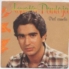 Discos de vinilo: AGUSTIN PANTOJA - PIEL CANELA / FANTASMA TU - SINGLE ARIOLA 1984. Lote 145902354