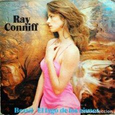 Discos de vinilo: RAY CONNIFF – BRASIL / EL LAGO DOS CISNES - SINGLE PROMO GATEFOLD SPAIN 1973. Lote 145904562