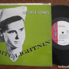 Discos de vinilo: GEORGE JONES `WHITE LIGHTNIN´ 10´´ ACE. MONO. Lote 145718270
