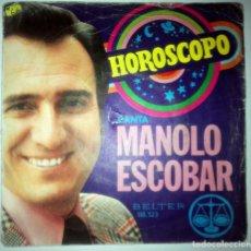 Discos de vinilo: MANOLO ESCOBAR - HOROSCOPO -. Lote 145925646