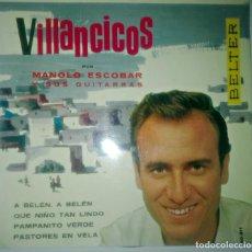 Discos de vinilo: MANOLO ESCOBAR - VILLANCICOS -. Lote 145925774
