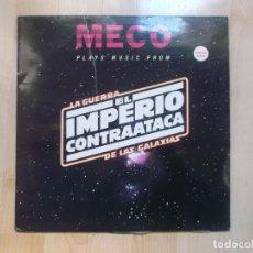 Discos de vinilo: MECO STAR WARS PLAYS MUSIC FROM LA GUERRA DE LAS GALAXIAS / EL IMPERIO CONTRAATACA. Lote 155056840