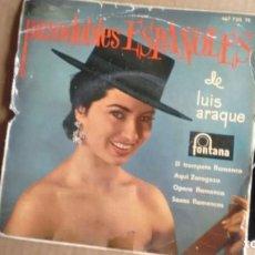 Discos de vinil: E P (VINILO) DE ORQUESTA DE LUIS ARAQUE CON ARTURO FORNES AÑOS 60. Lote 145974686
