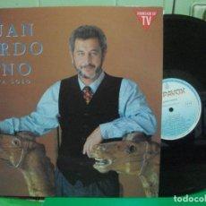 Discos de vinilo: JUAN PARDO-UNO ESTA SOLO - LP HISPAVOX DE 1990 ,RF- 7004 , PERFECTO ESTADO , CONTIENE ENCARTE PEPETO. Lote 145985122