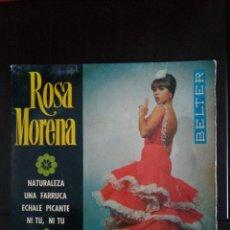 Discos de vinilo: ROSA MORENA. ÉCHALE PICANTE / NI TU, NI TU / NATURALEZA /UNA FABRICA. Lote 145991282