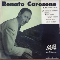 Discos de vinilo: EP - RENATO CAROSONE Y SU CUARTETO. TE ACUERDAS DE MARCELINO? +3. Lote 220845791