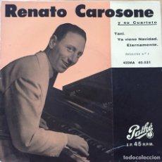 Discos de vinilo: EP RENATO CAROSONE Y SU CUARTETO (SELECCIÓN 4). Lote 145997296