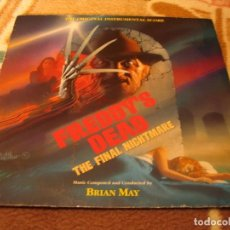 Discos de vinilo: BRIAN MAY LP FREDDY´S DEAD THE FINAL NIGHTMARE KRUEGER ELM STREET ORIGINAL ALEMANIA 1991. Lote 145997958