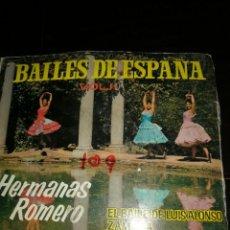Discos de vinilo: BAILES DE ESPAÑA VOL. I. HERMANAS ROMERO. Lote 145999670