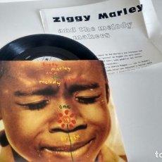 Discos de vinilo: SINGLE (VINILO)-PROMOCION- DE ZIGGY MARLEY AND THE MELODY MAKERS AÑOS 80 + HOJA PROMOCIONAL. Lote 146013542