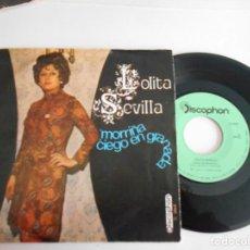 Discos de vinilo: LOLITA SEVILLA-SINGLE MORRIÑA. Lote 146018226