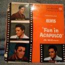 Discos de vinilo: ELVIS PRELEY - FUN IN ACAPULCO - VINO DINERO Y AMOR / BOSSA NOVA BABY / GUADALAJARA / MARGARITA. Lote 146029854