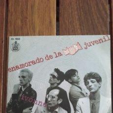 Discos de vinilo: RADIO FUTURA ENAMORADO DE LA MODA JUVENIL - IVONNE HISPABOX 1980 SINGLE 45 RPM VINILO. Lote 146030820