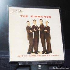 Discos de vinilo: THE DIAMONDS-- THE STROLL / LAND OF BEUATY / SWEET WILD HONEY / PASSION FLOWER -- AÑO 1960. Lote 146036006