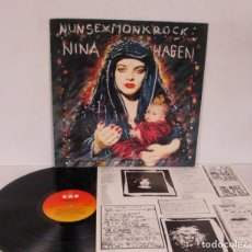 Discos de vinilo: NINA HAGEN BAND - NUN SEX MONK ROCK - LP - CBS 1982 HOLLAND CBS 85774+ LETRAS - VINILO N MINT. Lote 146099622