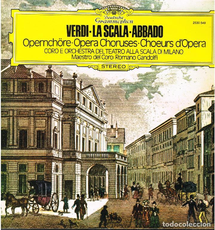 VERDI - LA SCALA - ABBADO - LP 1979 (Música - Discos - LP Vinilo - Clásica, Ópera, Zarzuela y Marchas)