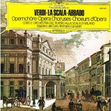 Discos de vinilo: VERDI - LA SCALA - ABBADO - LP 1979. Lote 146101198