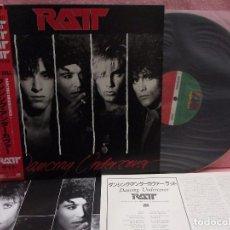 Discos de vinilo: VINILO EDICIÓN JAPONESA DEL LP DE RATT - DANCING UNDERCOVER. Lote 146102030