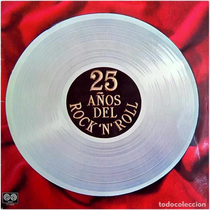 VVAA - 25 AÑOS DEL ROCK'N'ROLL - LP SPAIN 1980 - AUVI 77-2100 (Música - Discos - LP Vinilo - Rock & Roll)