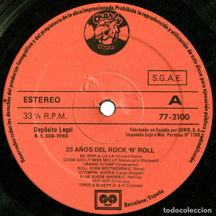Discos de vinilo: VVAA - 25 Años Del RockNRoll - Lp Spain 1980 - Auvi 77-2100 - Foto 3 - 146133542