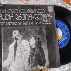 Discos de vinilo: SINGLE (VINILO) DE CLAUDIA REGINA & TOBIAS AÑOS 70. Lote 146134562