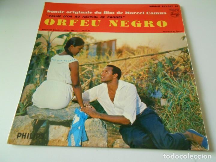 B. S. O. FILM ORFEU NEGRO, EP, FELICIDADE + 3, AÑO 19?? MADE IN FRANCE (Música - Discos de Vinilo - EPs - Bandas Sonoras y Actores)