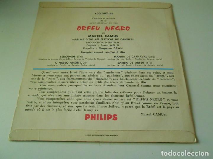 Discos de vinilo: B. S. O. FILM ORFEU NEGRO, EP, FELICIDADE + 3, AÑO 19?? MADE IN FRANCE - Foto 2 - 146141222