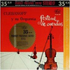 Discos de vinilo: CLEBANOFF AND HIS ORCHESTRA - FESTIVAL DE CUERDAS - LP SPAIN 1963 - MERCURY 135 362 MDY. Lote 146159978