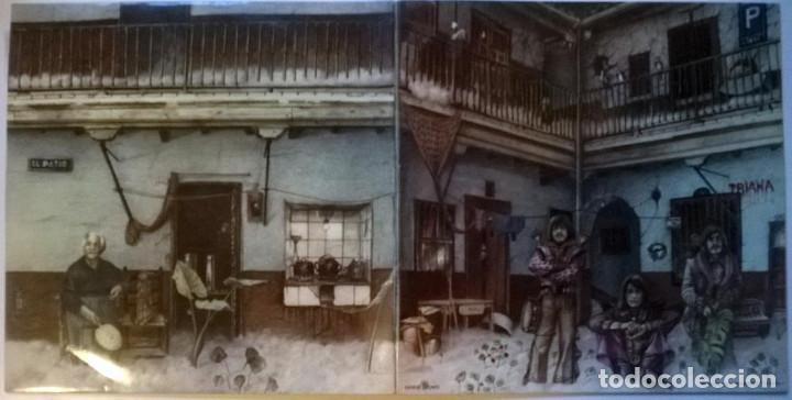 Discos de vinilo: Triana. El patio. Movieplay-Gong, Spain 1975 LP + doble cubierta - Foto 2 - 146161570