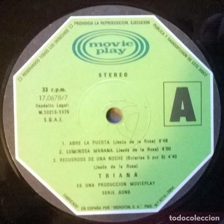 Discos de vinilo: Triana. El patio. Movieplay-Gong, Spain 1975 LP + doble cubierta - Foto 4 - 146161570
