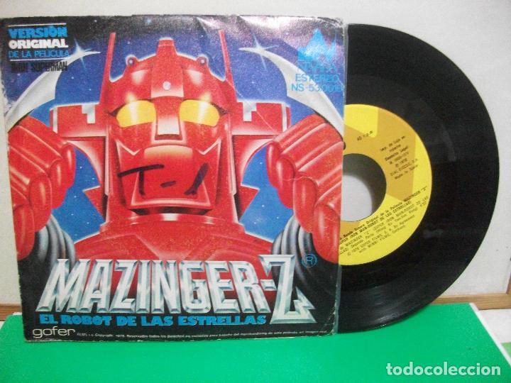 BSO - MAZINGER - EL ROBOT DE LAS ESTRELLAS MAZINGER Z SINGLE SPAIN 1978 PEPETO TOP (Música - Discos - Singles Vinilo - Bandas Sonoras y Actores)